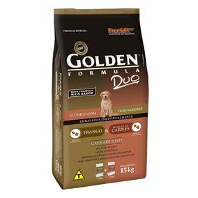 Ração Golden Duo Adultos Frango À Moda Caipira E Carne 15 Kg