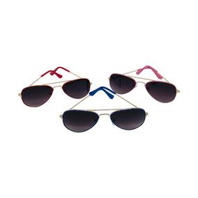 c935fbc5b3169 5 Óculos Sol Unissex Aviador Infantil Varias Cores Atacado