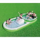 Alberca H2o Go Bestway Inflable Con Tobogán 3.7m X 1.88 M