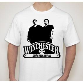 Camiseta Winchester Supernatural Camisa 100% Algodão 32a0704130268