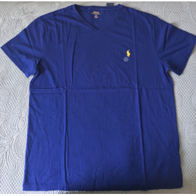 Camiseta Gola V Ralph Lauren Feminina - Calçados 70bf2895d3a