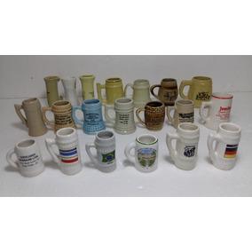Caneco Chopp Cerâmica Miniatura Pequeno Kit 20 Un Coleção