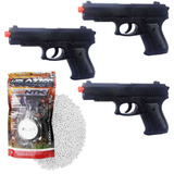 Kit 3x Airsoft Pistola Vg P.1918 Mola 6mm + Esferas Bbs