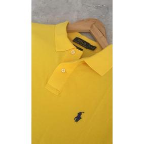 33) Camisa Tecido Ralph Lauren Amarela Tam. G (16 32 - Pólos ... 647c08fb3c3