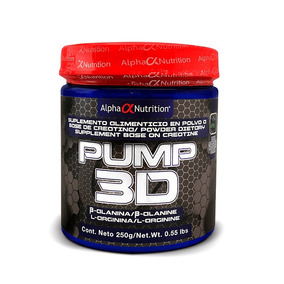 Alpha Nutrition Pre Entreno Pump 3d 250g Sabor Berry