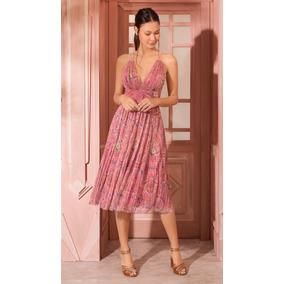 Antix Vestido Midi Formosa Rosa R80899