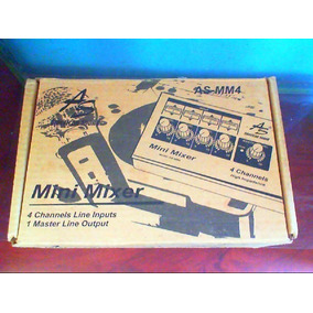 Mini Mixer 4 Canales American Sound As-mm4