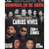 Boleta Preferencial Carlos Vives, Festival Vallenato Dia 28