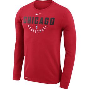 Playera Chicago Bulls Nike Practice Long Sleeve Performance