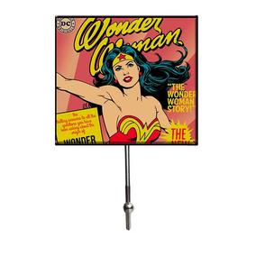 Cabideiro De Vidro Com 1 Gancho - Dc Comics - Mulher Maravil