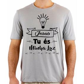f8c00d813d17c Camiseta Jesus Tu A Minha Luz - Camisetas e Blusas Manga Curta no ...