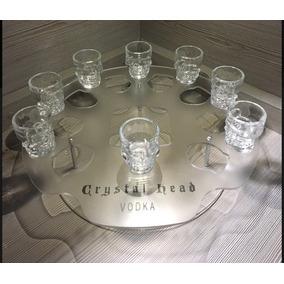 Expositor De Acrílico Da Vodka Cristal Head + 8 Shot