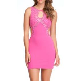Sexy Mini Vestido Marca Bebe Strech T L Casual Remaches C224