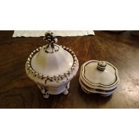 Lote Potiche Y Caja De Porcelana Alemana Antiguos