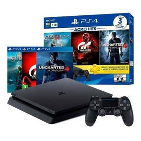 Playstation Ps4 Slim 1tb + 3 Juegos +3 Meses Ps Plus Oferta