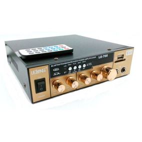 Amplificador Àudio Estereo Bluetooth Rádio Karaokê Fm 220v
