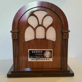 Radio, Caixa De Som, Retro,vintage,capelinha, Bluetooth