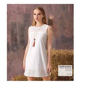 Ropa Mujer Vestido Casual Blanco V18 208