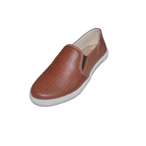 Tênis Slip On Feminino Quality Shoes Trama Conhaque