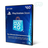 Cartão Psn Playstation Network Card $60 Dólares Imediato