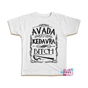 Camiseta Harry Potter Avada Kedavra Hary Poter Camisa Blusa c67b52fd32f4b
