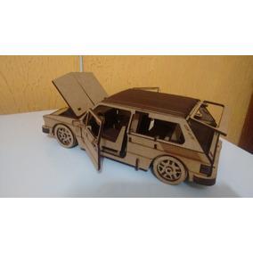 Miniatura Carrinho Volkswagen Brasilia Em Mdf Montada