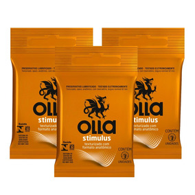 Kit Olla Preservativo Stimulus 3uni. Com 3 Packs