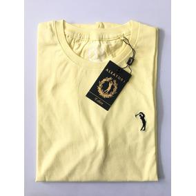 Camiseta Masculina Aleatory Amarela Original Básica 2411406c03c25