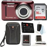 Kodak Pixpro Friendly Zoom Fz53 (rojo) Con Tarjetas Sd Sandi