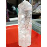 Cuarzo Blanco Cristalino Obelisco Tallado 6 Caras