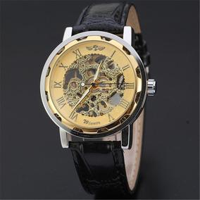Relógio Dourado De Pulso Mecânico