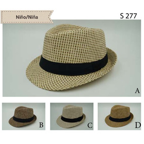Sombrero Niña niño Paja Jazz Bonito Elegante Casual Hermoso b2319e49ceb