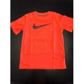 Camiseta Infantil Nike Dry-fit Laranja, P