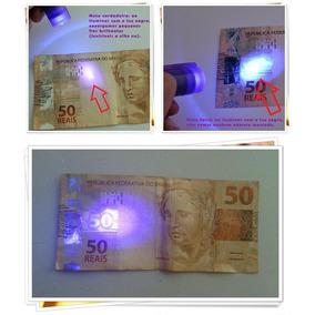 100 Caneta Detectar Dinheiro Falso Luz Uv Tinta Invisível
