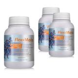 3 Frascos Flexxmais Colágeno Tipo 2 60 Capsulas Flex Mais