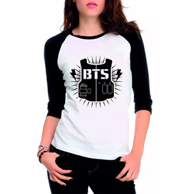 Camiseta Kpop Bangtan Boys Bts Feminina Raglan 3 4 Promoção bae827b9686fb