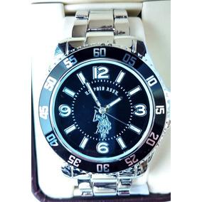 Reloj U.s. Polo Assn Nuevo Original Caballero Plata