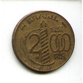 Egoto-v 161-moeda 2.000 Réis 1937 Duque De Caxias
