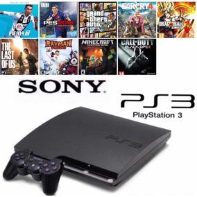 Ps3 Playstation 3 Slim ( 9 Jogos De Brinde )