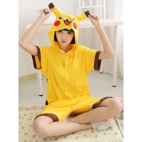 Pijama Corta Pikachu Kigurumi Disfraz Pokemon Verano