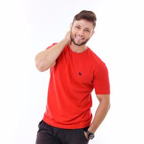 Kit Com 5 Camisas Básica 100% Algodão Gola Careca Lisa Malha