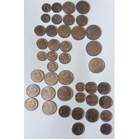 Frete Grátis - 42 Moedas De Dinheiro - Coleção Antiga C32p