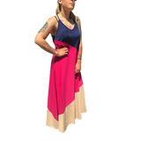 Vestidos Largos Tricolor Mujer Suelto Amplio Informales