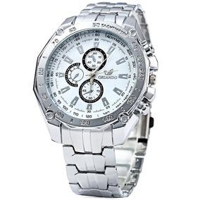 Relógio De Aço Original Orlando Cromado Masculino Barato