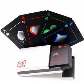 Baralho Cartas Preto Fosco Com Caixa De Alumínio Poker Truco