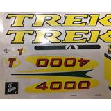 Jogo Adesivos Bike Trek 4000 Amarelo