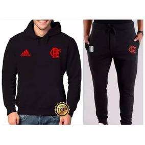 0b429f4611 Kit Blusa De Frio Flamengo Time Moletom + Calça Casaco Top