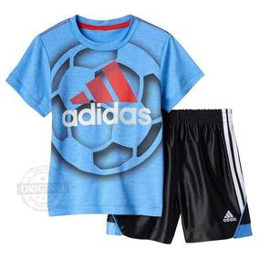 c52d69c59d Conjunto adidas Menino Bebe Camiseta Bermuda Original 9 E 12