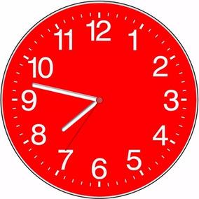 2154d1ed5a5 Relogio Parede Cozinha Vermelho - Relógios De Parede no Mercado ...