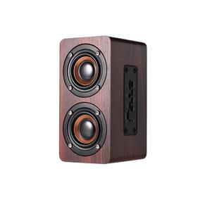 Caixa De Som Recarregáve Madeira Conexão Bluetooth / Sd Mp3